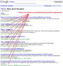 Google Lisiting Showing Citations